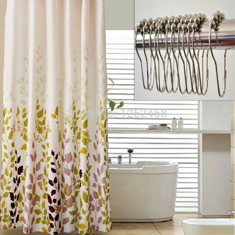 180cm x 180cm grass bath curtain fabric bathroom polyester ...