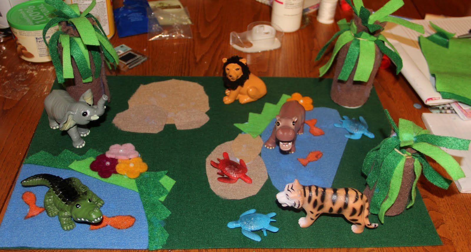 Felt Zoo Mat For Mowgli To Use With Her Anamalz Felt
