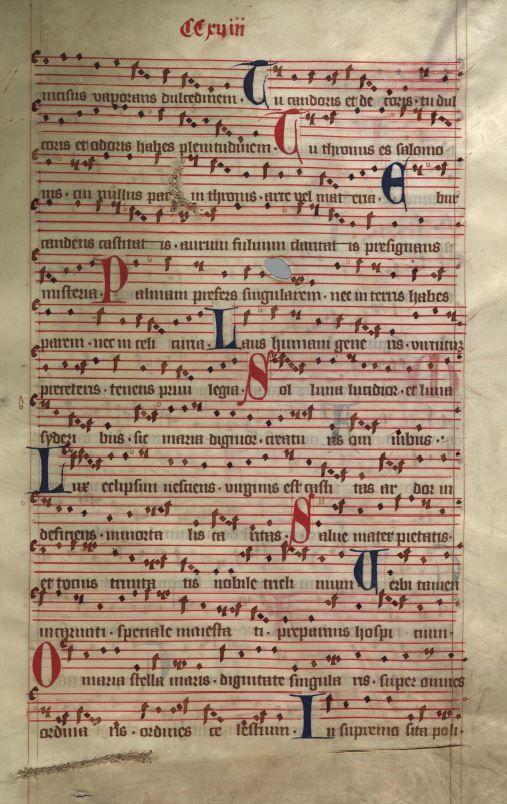 Moosburger Graduale um 1360 Moosburg Cim. 100 (= 2° Cod. ms. 156)  Folio 435