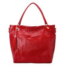 red/black/blue leather convertible crossbody shoulder handbag for women