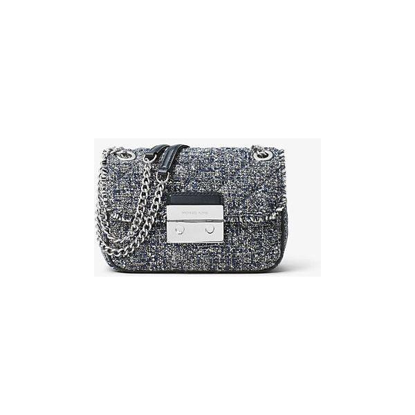 a384dd3ccee4 MICHAEL Michael Kors Sloan Small Tweed Shoulder Bag (3 340 UAH) ❤ liked on