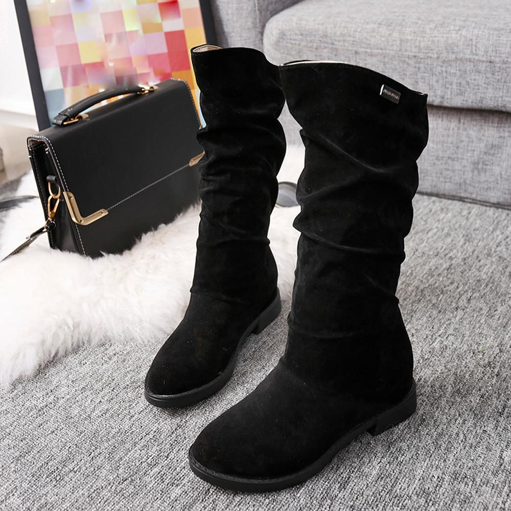 ee9ef34a6349 Autumn Winter Boots Women Sweet Boot Stylish Flat Flock Shoes Snow  BootsProduct Description: Winter is Coming. Get this today while quantities  last.