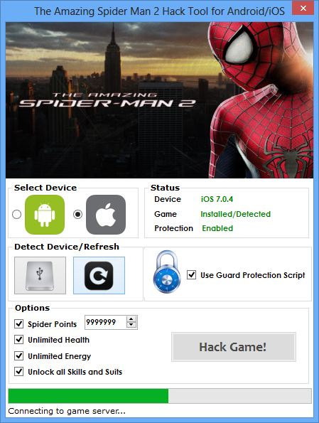 ios amazing spider man cheats