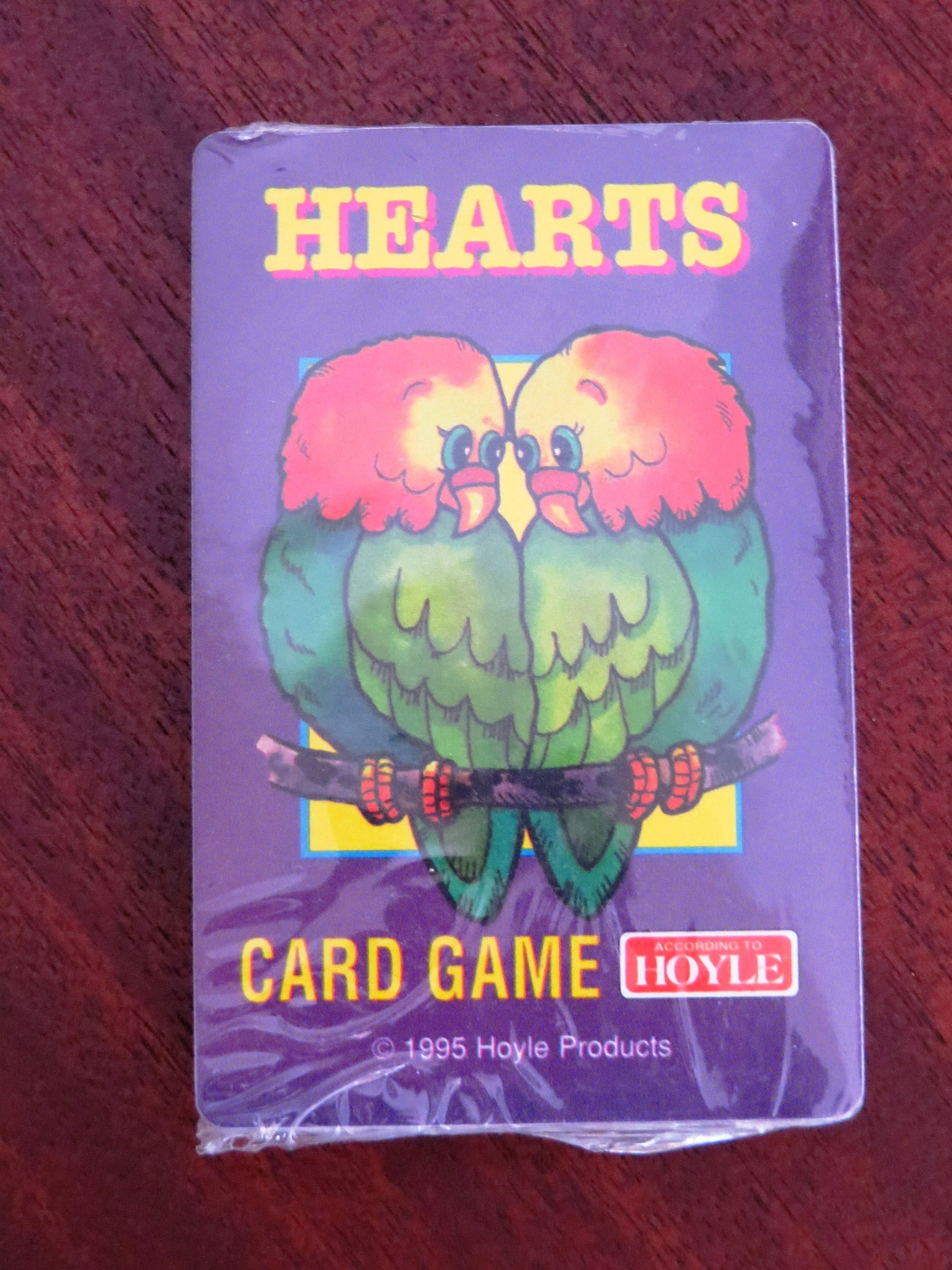 HEARTS Playing Cards Game 1995 UNUSED Single Full Deck