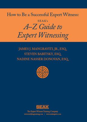 BOOK: How to Be a Successful Expert Witness