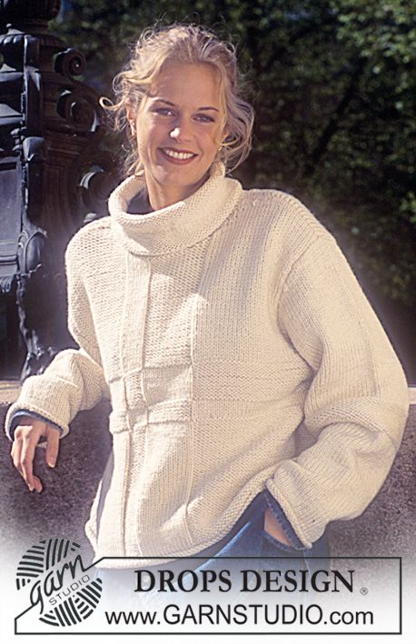 DROPS Sweater in Alaska and Cotton Viscose. Free pattern by DROPS ...