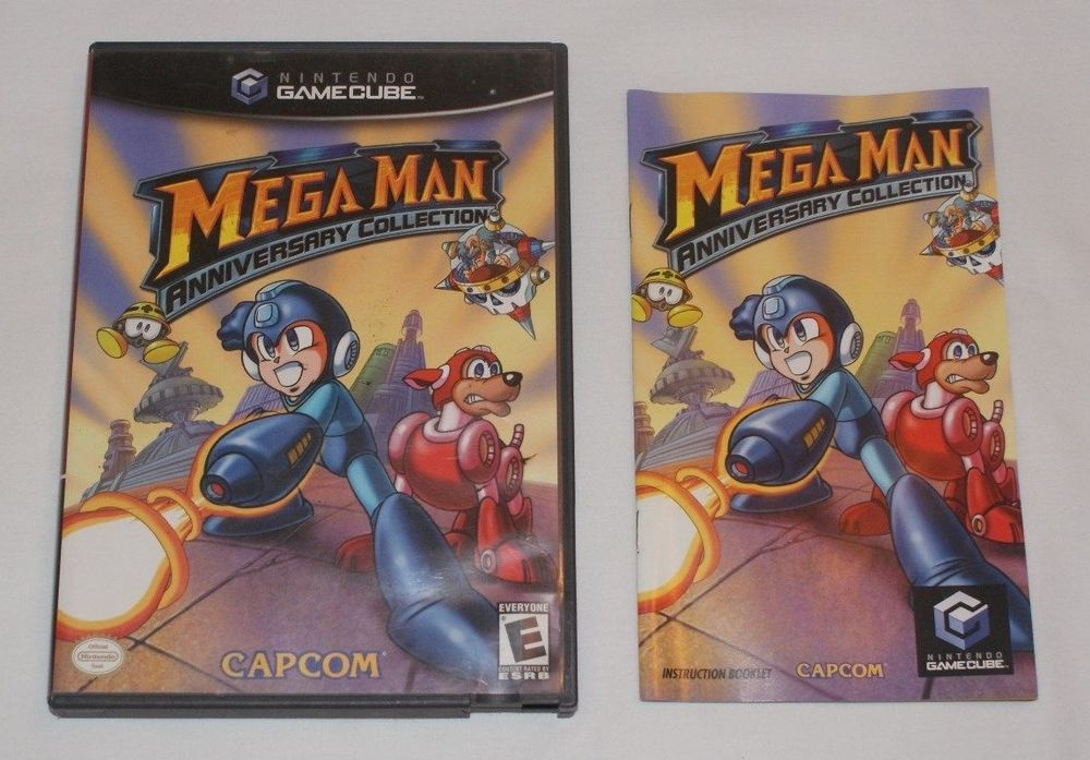 Case Manual For Mega Man Anniversary Collection Nintendo Gamecube