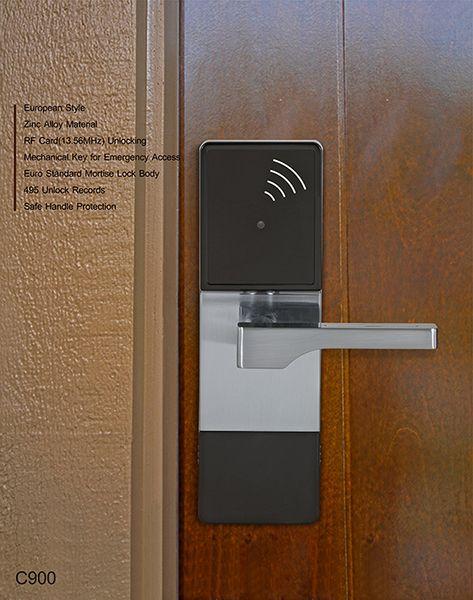 C900 Hotel Card Lock With Zinc Alloy Smart Door Locks Keypad Door Locks Keyless Entry Locks