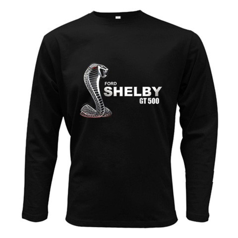 Ford mustang shelby gt500 t shirt men long sleeve tshirt black s 2xl shirts