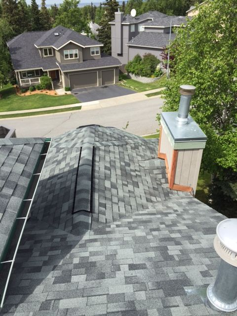 Premier Roofing Co 907 346 4131 Anchorage Alaska Malarkey 3m Legacy Shingles Oxford Grey Roof Edge Alternative Energy Roofing Systems