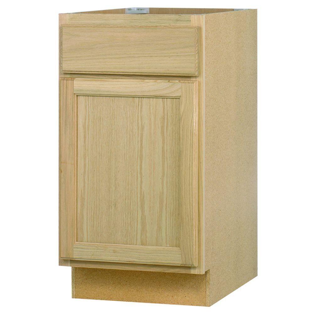 Base Cabinet In Unfinished Oak B18OHD
