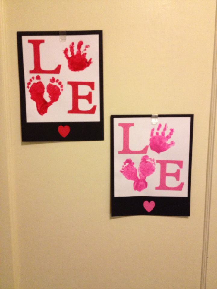 Valentine S Day Art With My 1 Year Old Twins February Crafts