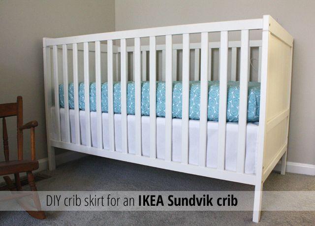 crib skirt for an ikea sundvik crib crib skirts diy. Black Bedroom Furniture Sets. Home Design Ideas