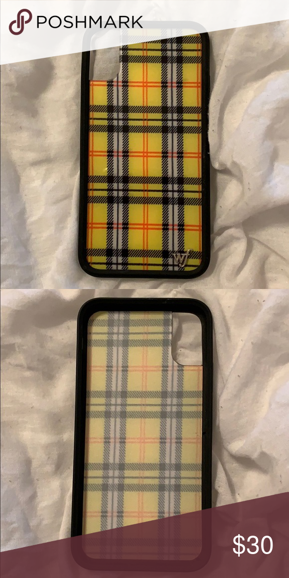 Yellow Wildflower Plaid iPhone X/XS case (With images