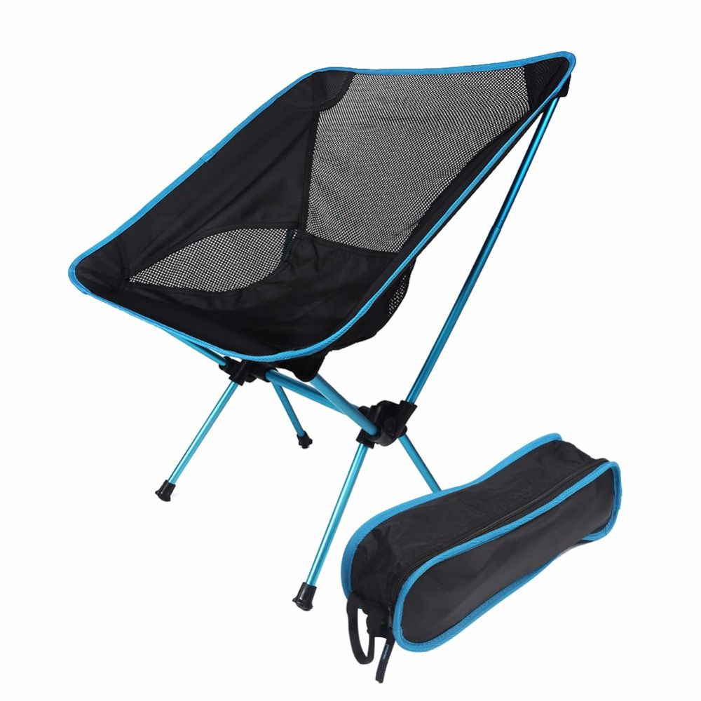 4 Colors Lightweight Folding Beach Chair Fishing Chair Moon Chair For Picnic Beach Party Camping Chairs Backpacking Chair