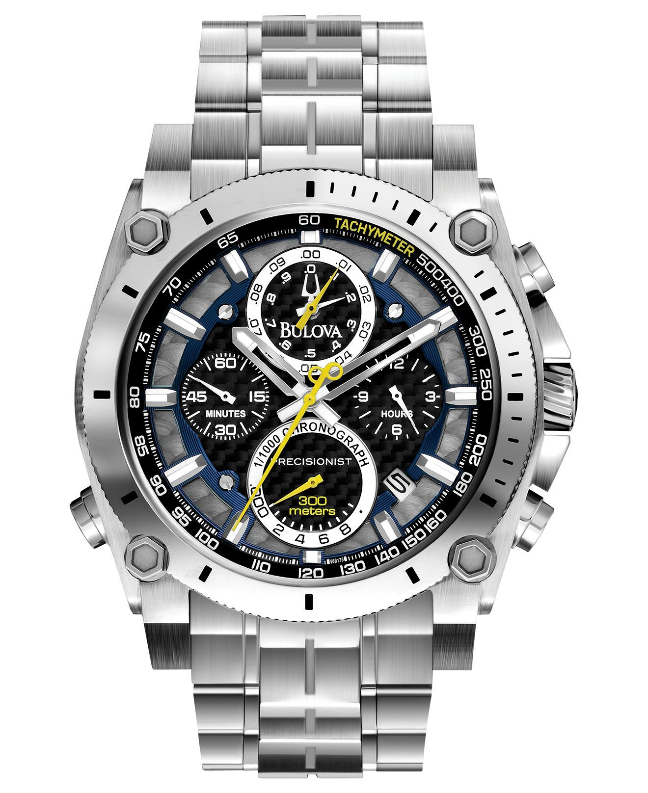 1a539863eba Men s Chronograph Precisionist Stainless Steel Bracelet Watch 47mm ...