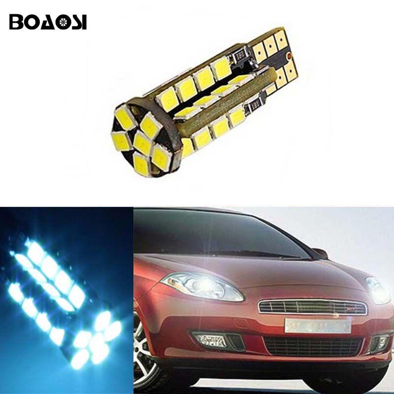 Boaosi 1x Car T10 Canbus W5w No Error Width Lamp Light For Fiat 500 Punto Stilo Palio Freemont Bravo Ducato Doblo Car Lights Car