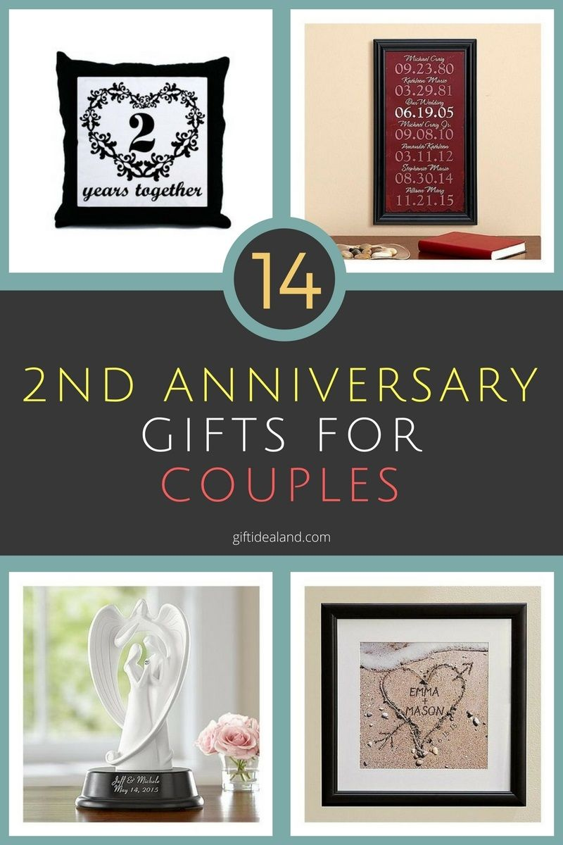 14 Great 2nd Wedding Anniversary Gift Ideas For Couples With