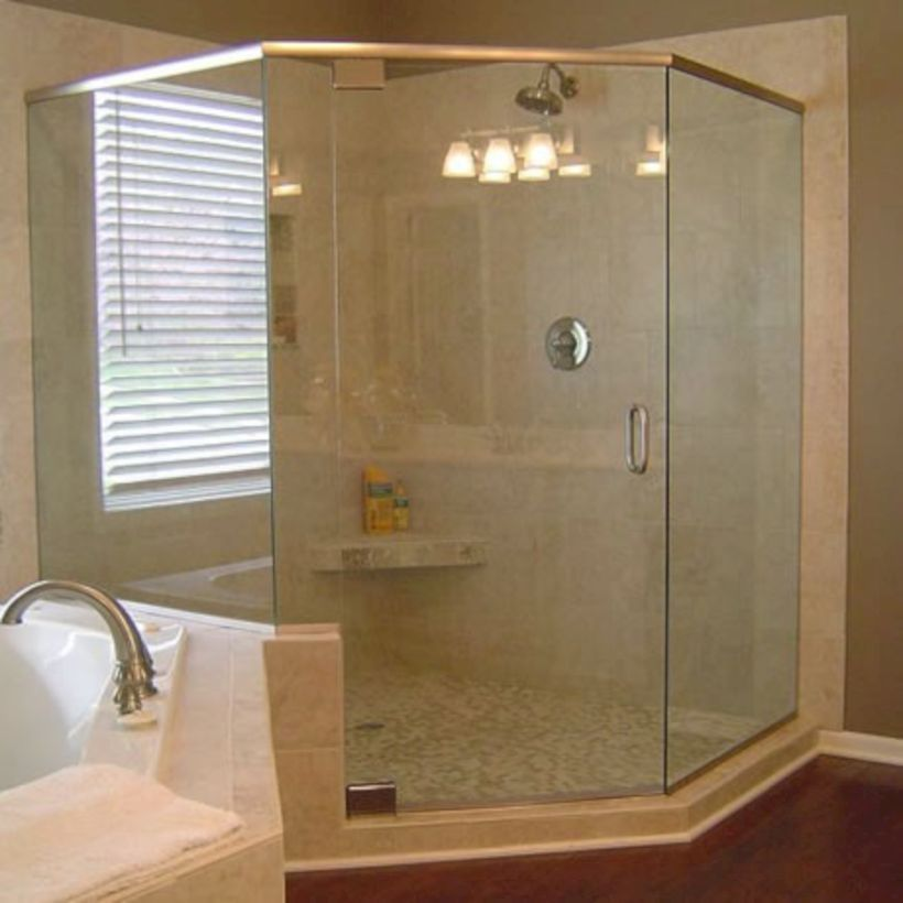 50 Beautiful Bathroom Frameless Shower Glass Enclosure | Frameless ...
