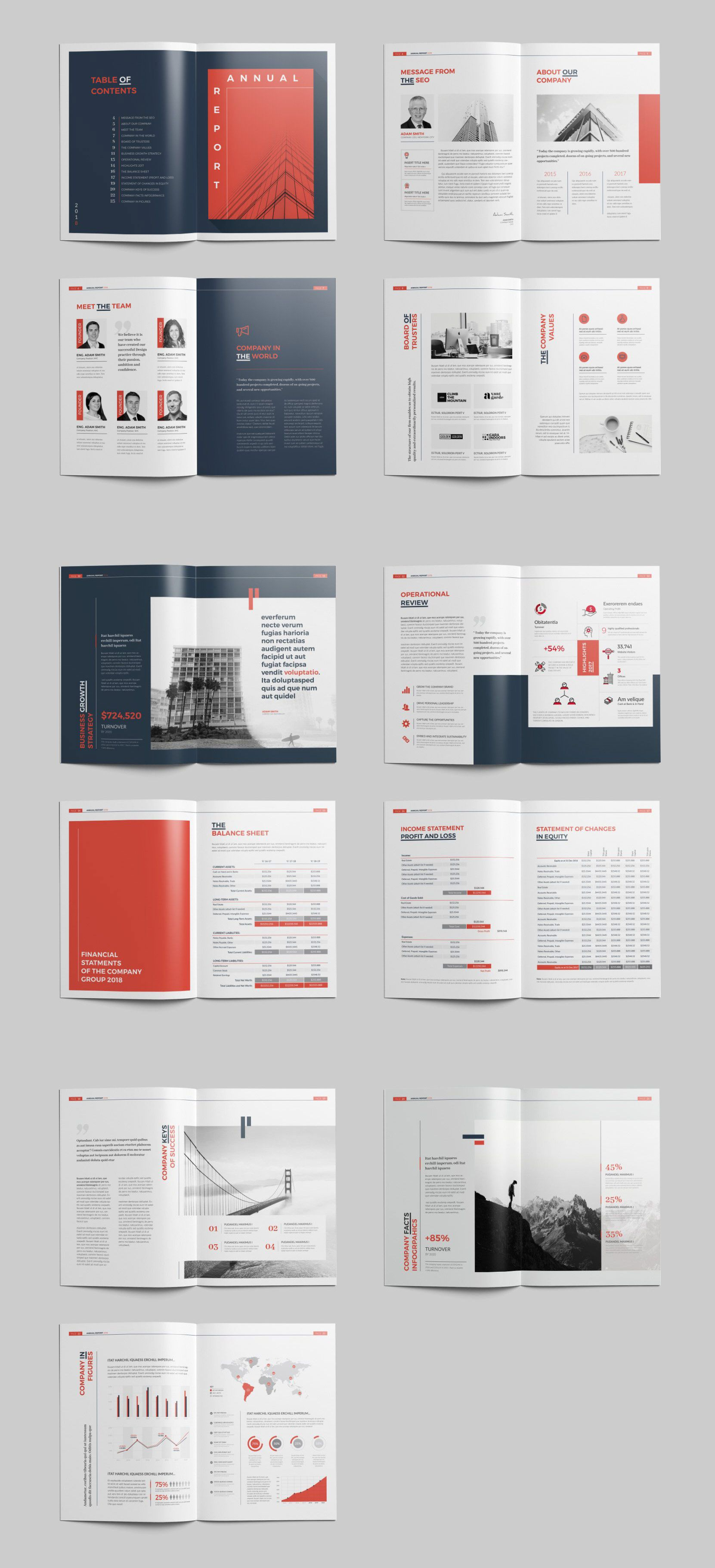 Annual Report 24 Pages Indesign Templates Templates Lettering