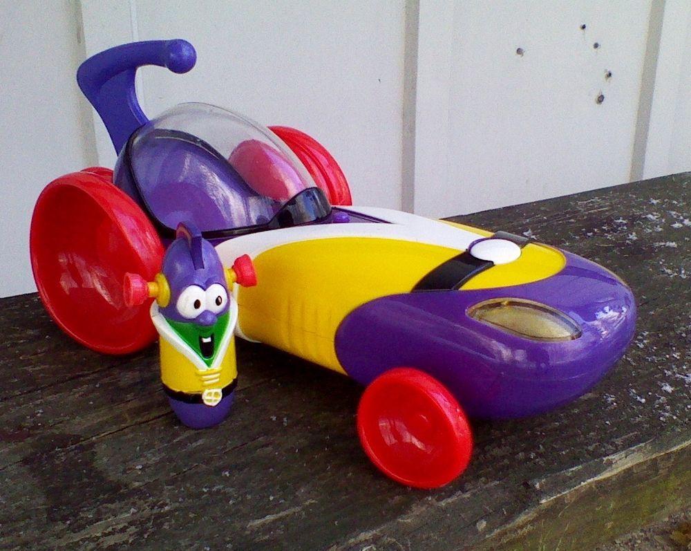 2003 Veggie Tales Larry Mobile Car Larry Boy Cucumber Sounds Voice