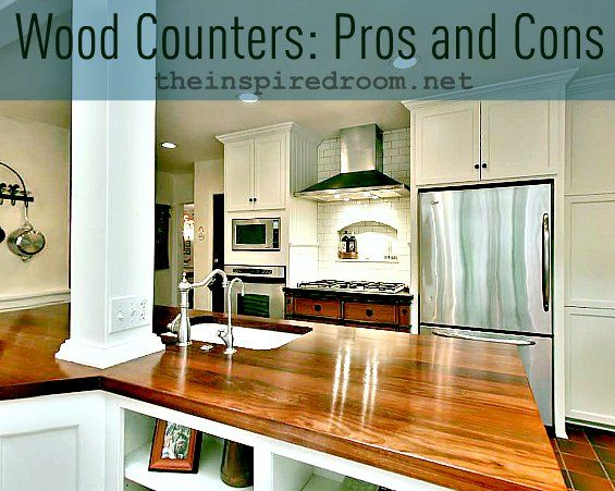 Kitchen remodel ideas wood counter woods and kitchens for Wood stain pros and cons