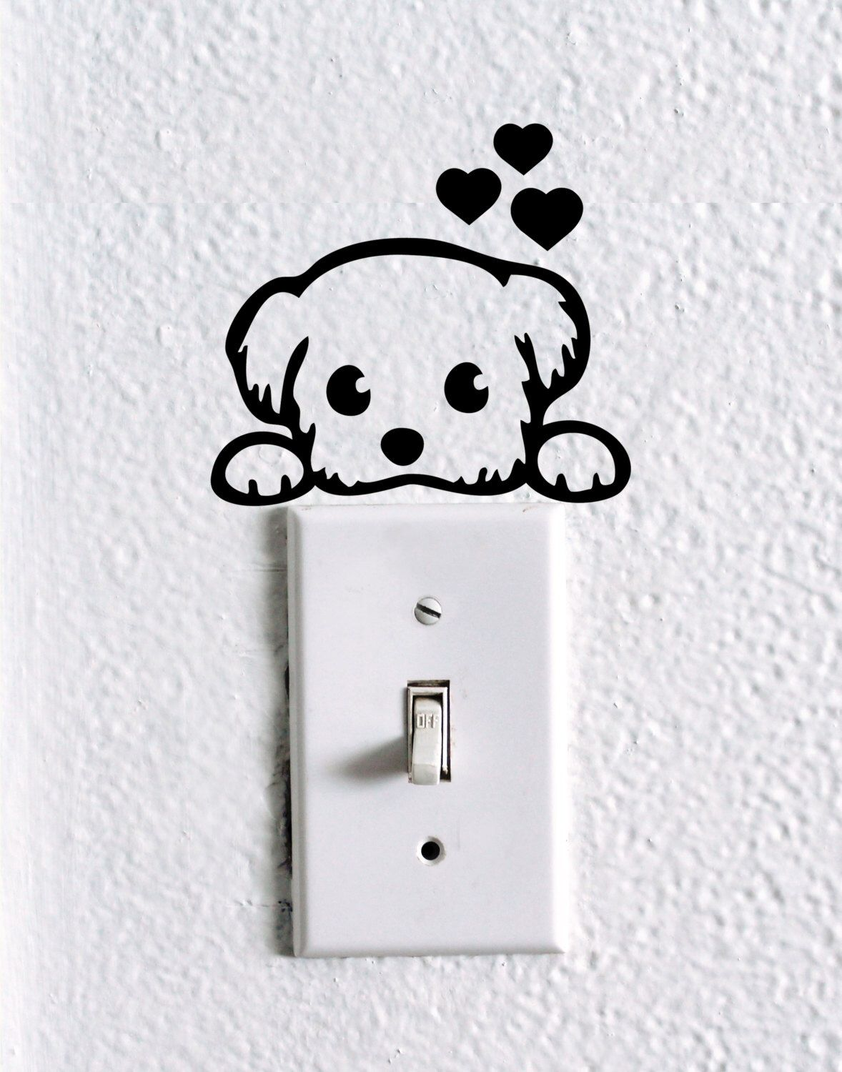 animal wall switch stickers light switches kids rooms and room cute dog baby pet light switch wall decal dog stickers cute dog wall vinyl