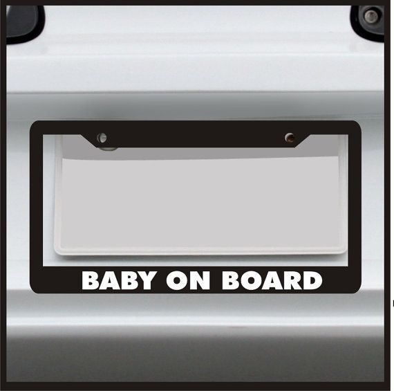 Baby on Board License Plate Frame Funny Custom | For Mom\'s and ...