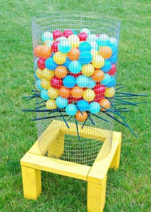DIY Backyard Ker Plunk Game Take Backyard Games To A Whole New Level With A  Large Scale Homemade Version Of The Classic Ker Plunk Game!
