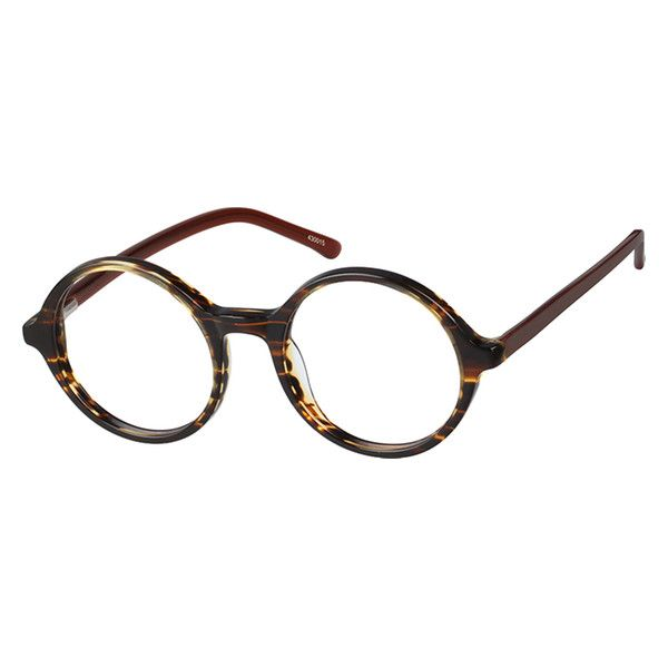 9a006ce77fc Zenni Round Prescription Eyeglasses Tortoiseshell Plastic 430015 in ...