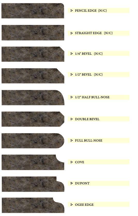 Granite Counter Edge Design Options Granite Edges Marble