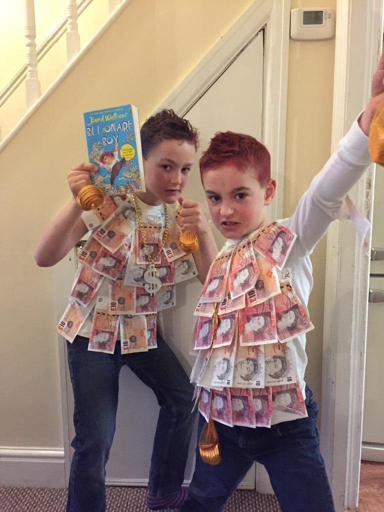 Billionaire Boys Costume kids David Walliams school book week Fancy Dress Outfit