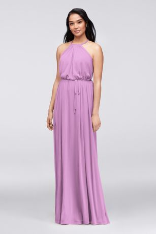 Halter Bridesmaid Dress with Slim Sash 4XLF19533   Wedding ideas ...