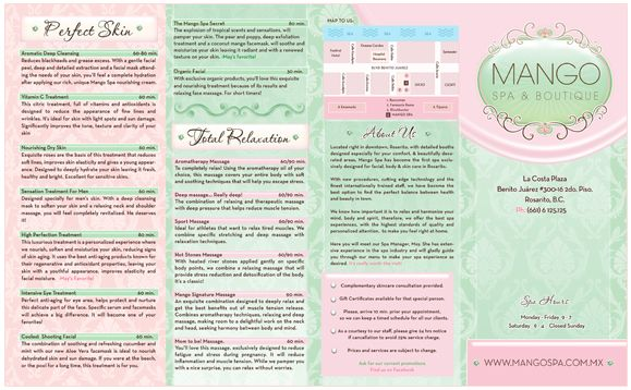 Spa Brochure Design  Esthetician    Brochures Spa And