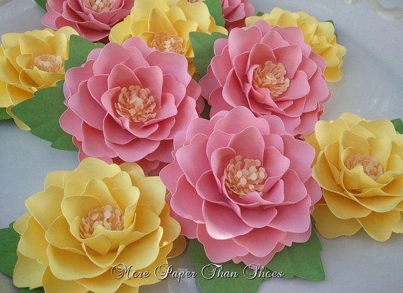 Paper Flowers Handmade Elizabeth Rose Set Of 30