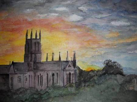 Sunset over Worcester by Maureen Garbett