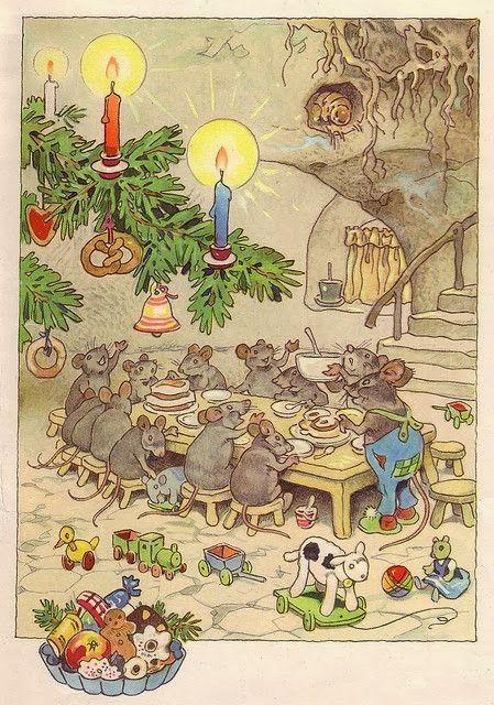 Vintage Christmas Illustrations.Illustration By Fritz Baumgarten Illustrious Illustrations