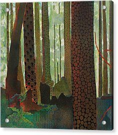 Embroidered Forest Part 1 Acrylic Print by Sandrine Pelissier