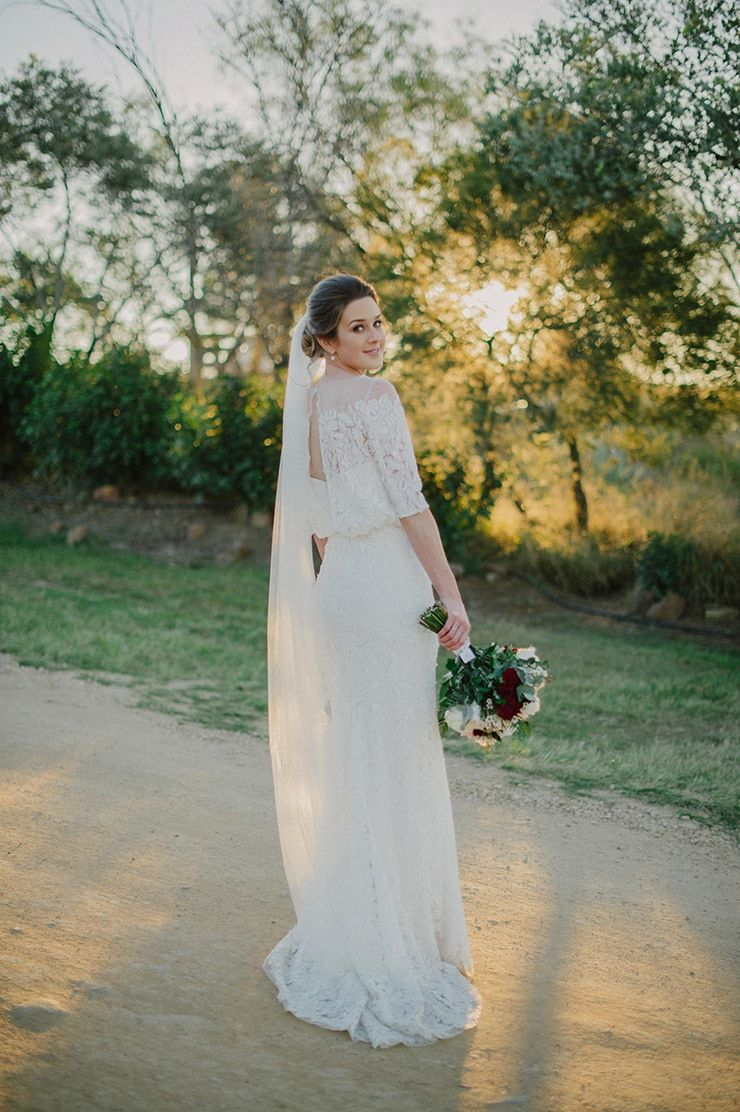 Paige and simonus relaxed winter country wedding sleek updo