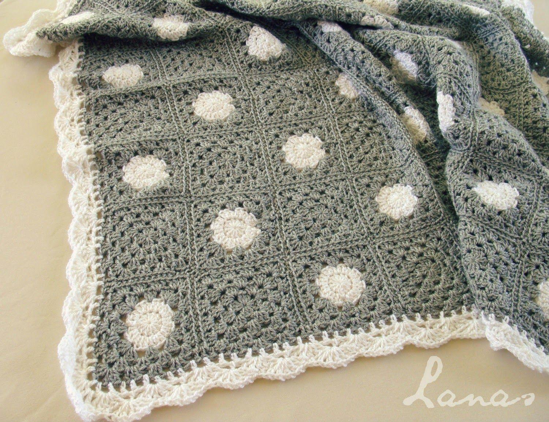 Polka Dot Blanket Lanas De Ana Haken Pinterest Breien Haken