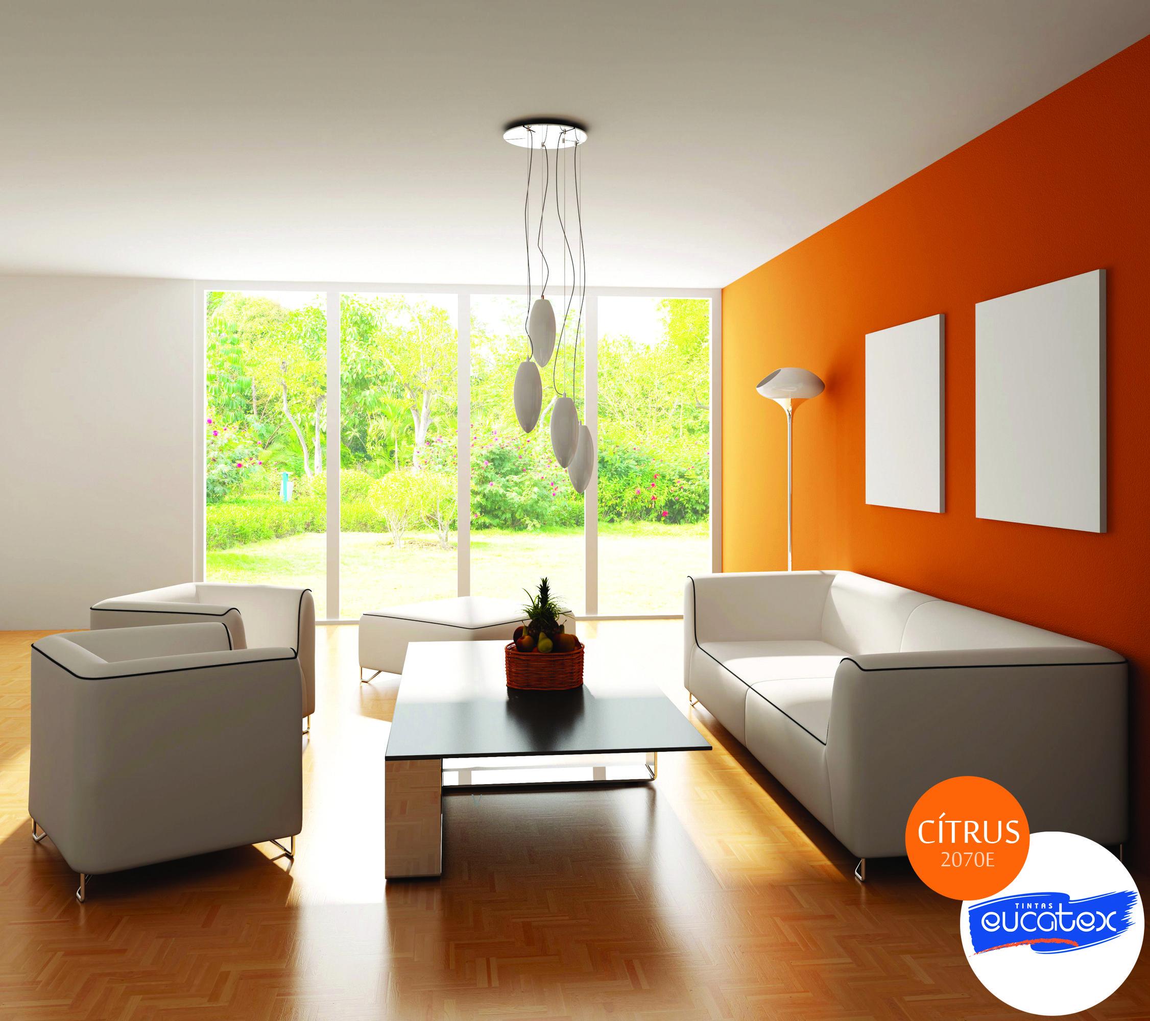 Inspiração de #decoração para #sala. Nome da #cor: Cítrus - Tintas Eucatex