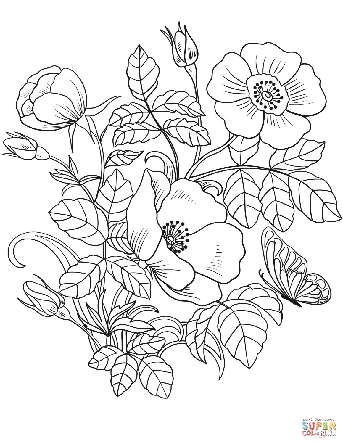 Spring Coloring Page Spring Flowers Coloring Page Free Printable Coloring Pages Davemelillo Com Flower Coloring Sheets Spring Coloring Pages Spring Coloring Sheets