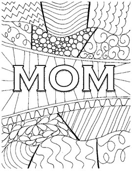 mother's day coloring page  mothers day coloring pages coloring pages adult coloring pages