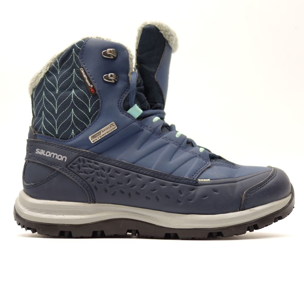 e6a0aa97b15 Salomon Womens Kaina Mid CS Waterproof Hiking Snow Winter Boots Size ...