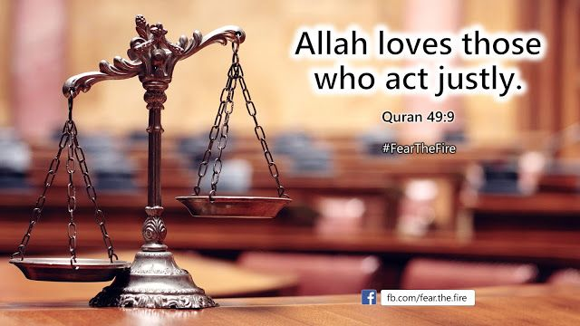 Allah loves those who act justly