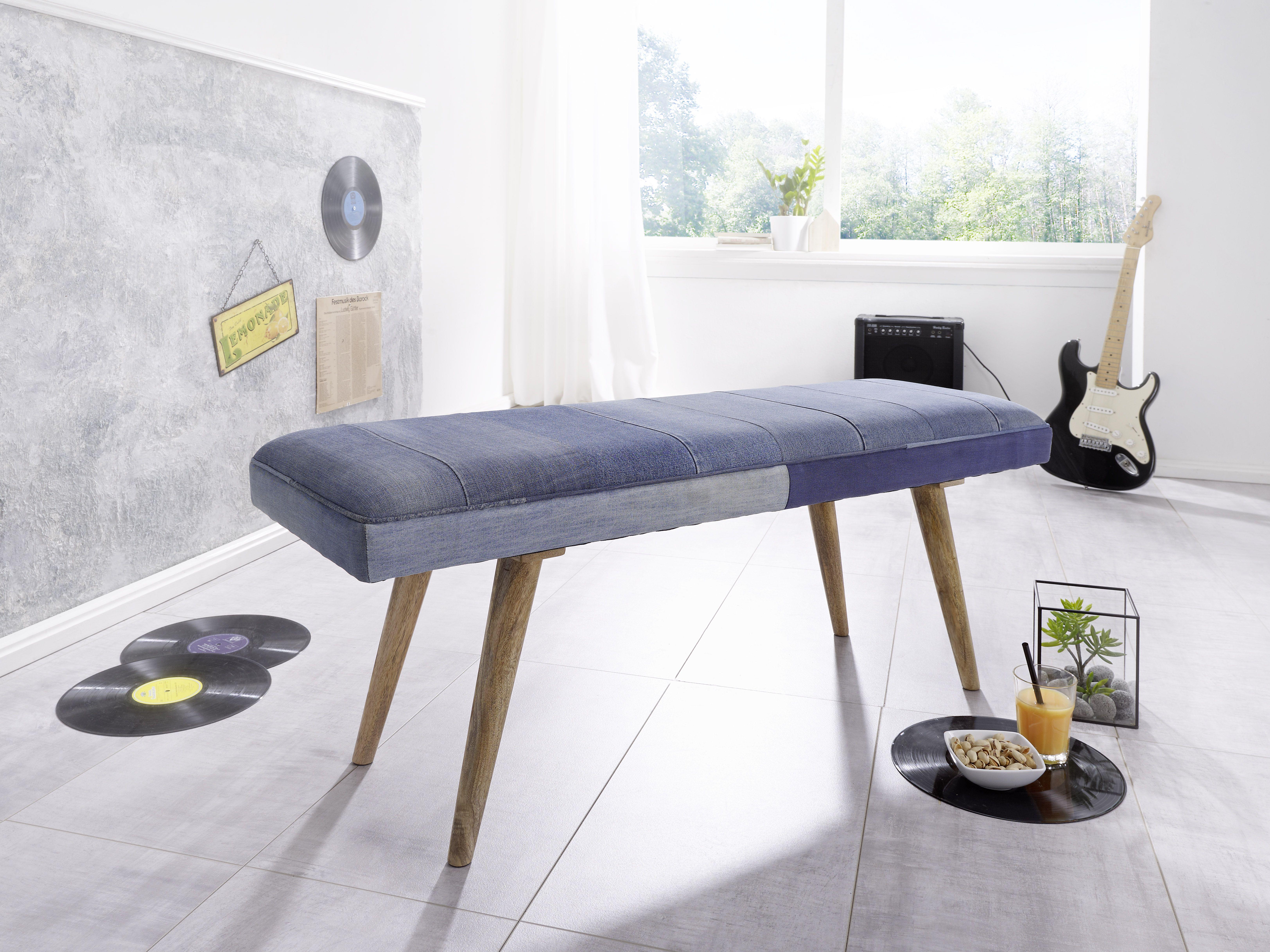 Wohnling Sitzbank mit Denim WL5.320 aus Recyceltem Jeansstoff und ...