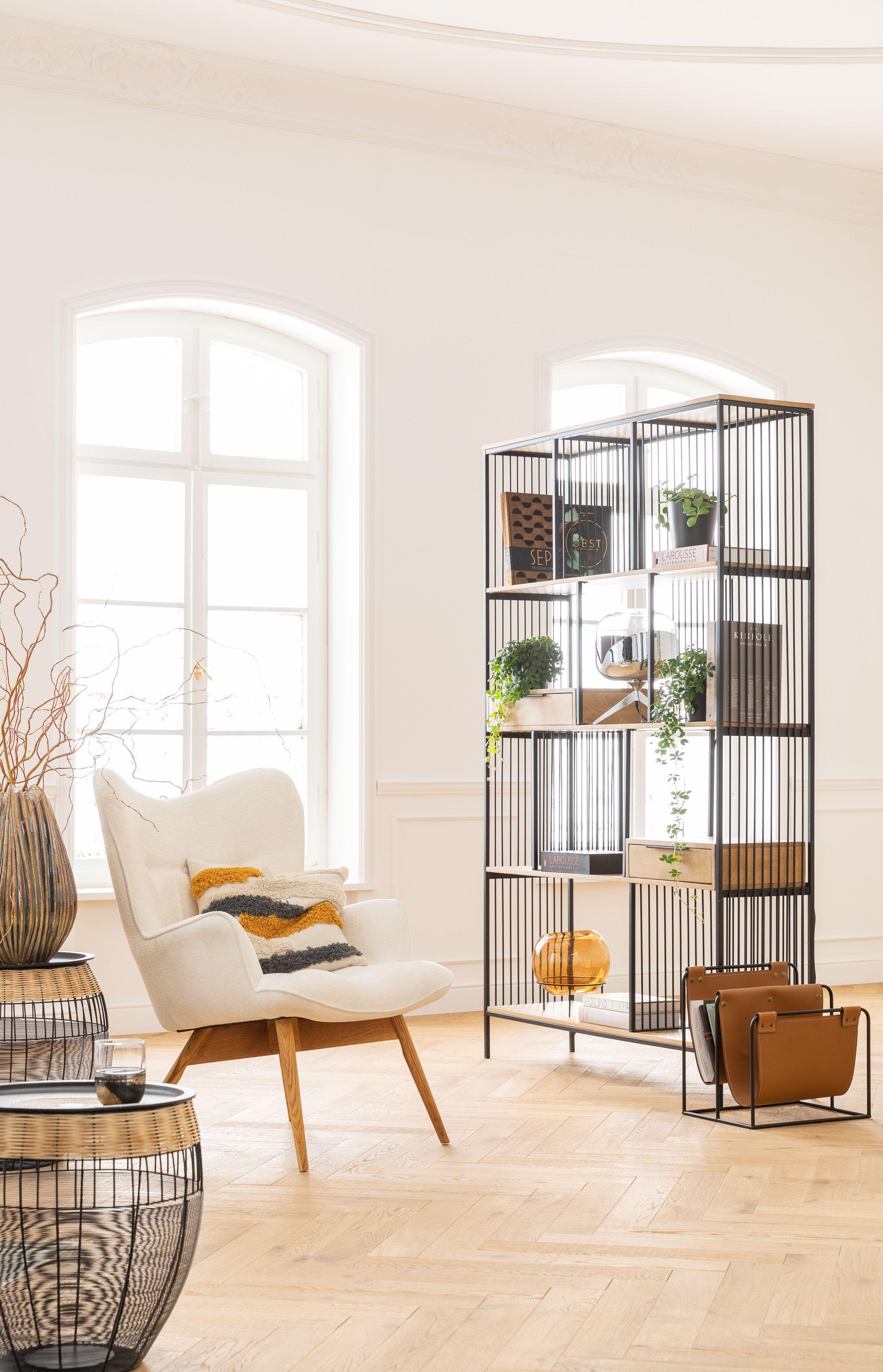 Loft Newspaper Rack Shelves Furniture Room