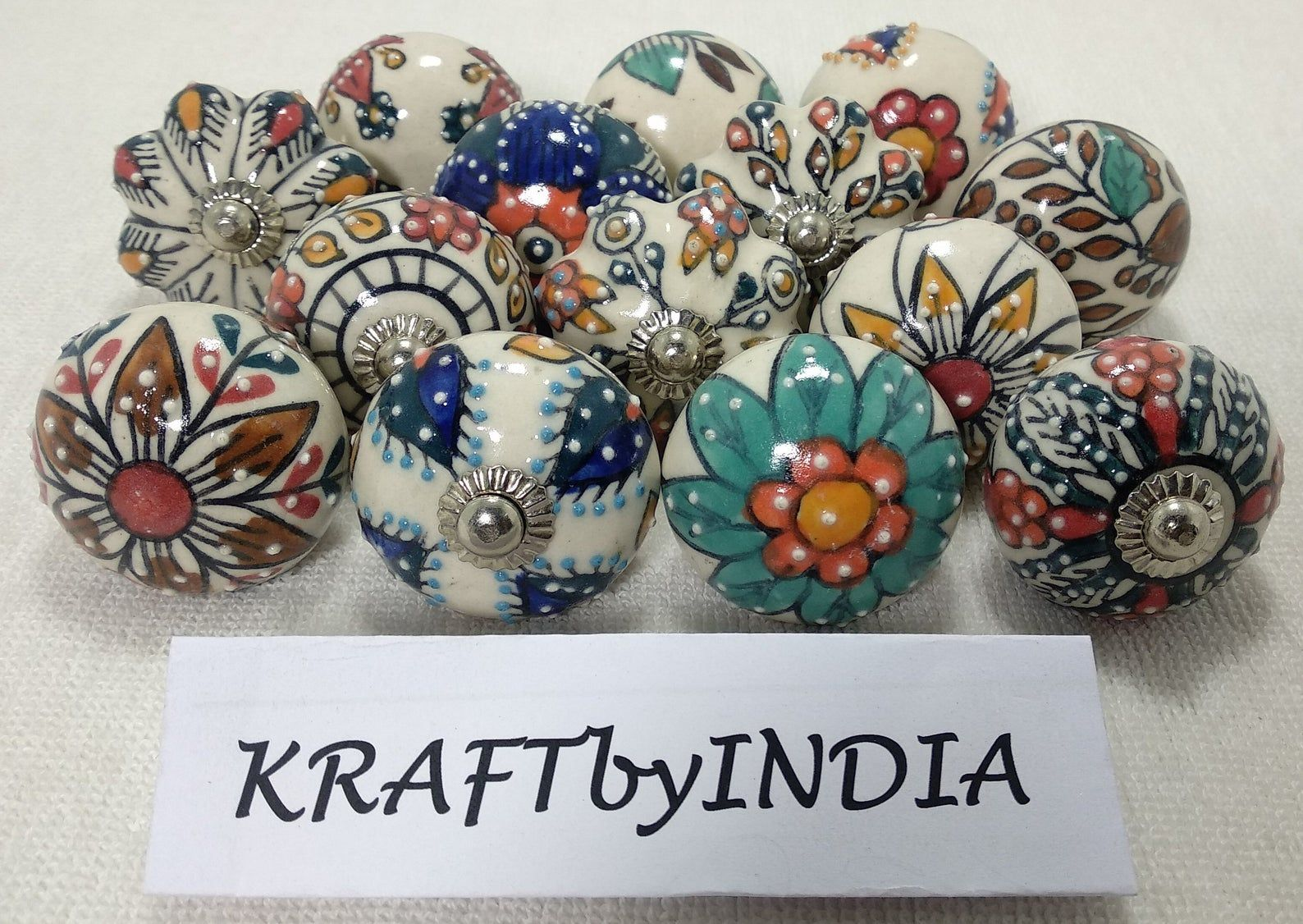 Multicolor Emboss Ceramic Knobs Kitchen Cabinet Drawer Knobs Cupboard Knobs Hardware Knobs Handmade Knobs Cabinet Knobs Ceramic Door Knobs