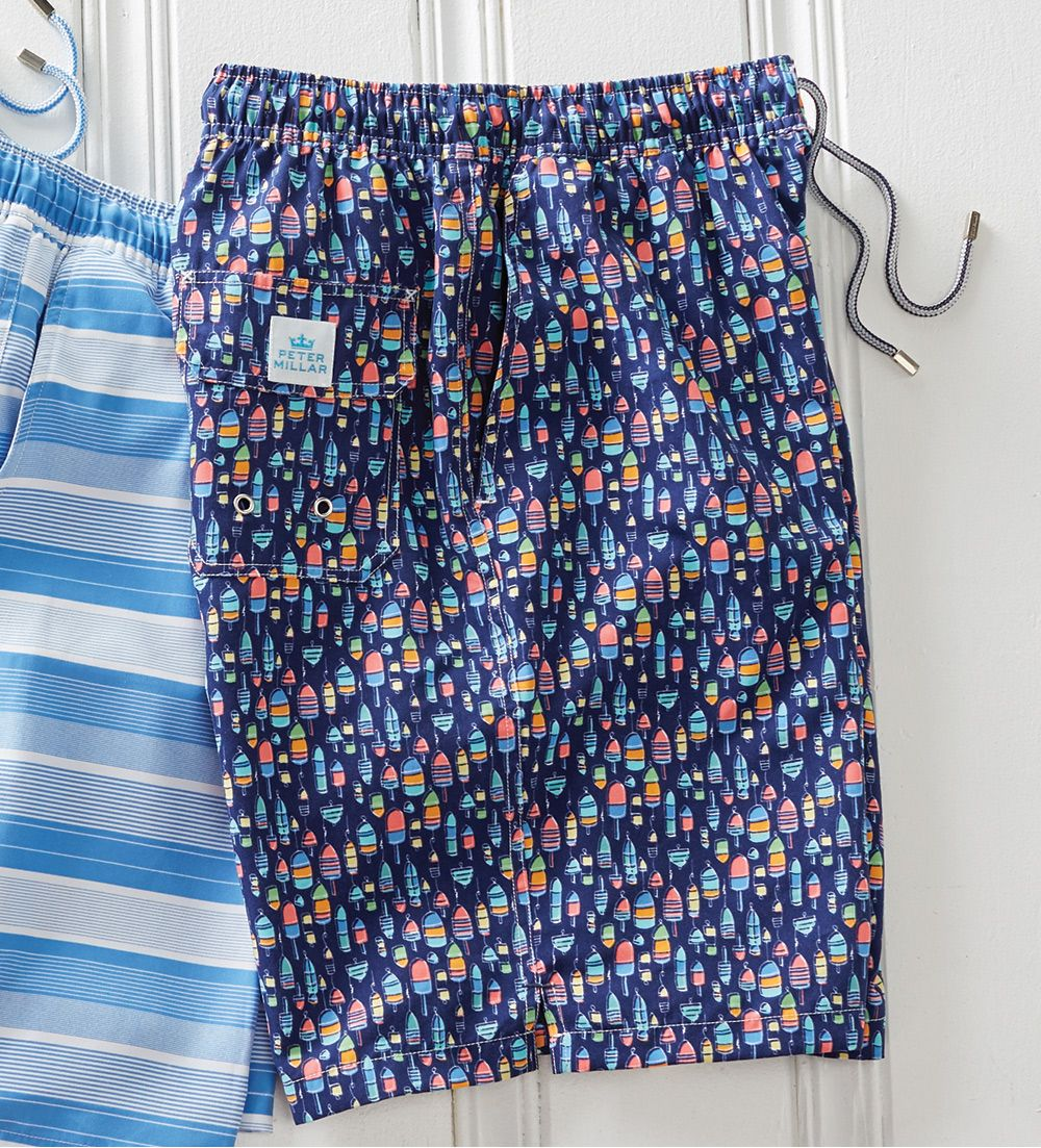 e4a62afbb4 Peter Millar Bob's Buoys Swim Trunks | FALL 18 | Swim trunks, Trunks ...