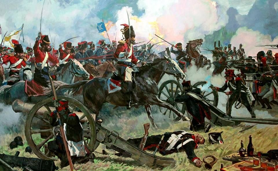 Russian Cossacks of the Guard charging home!